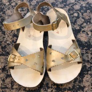 Gold sun sandals